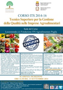 Corso 2014 2016  ITS Agroalimentare