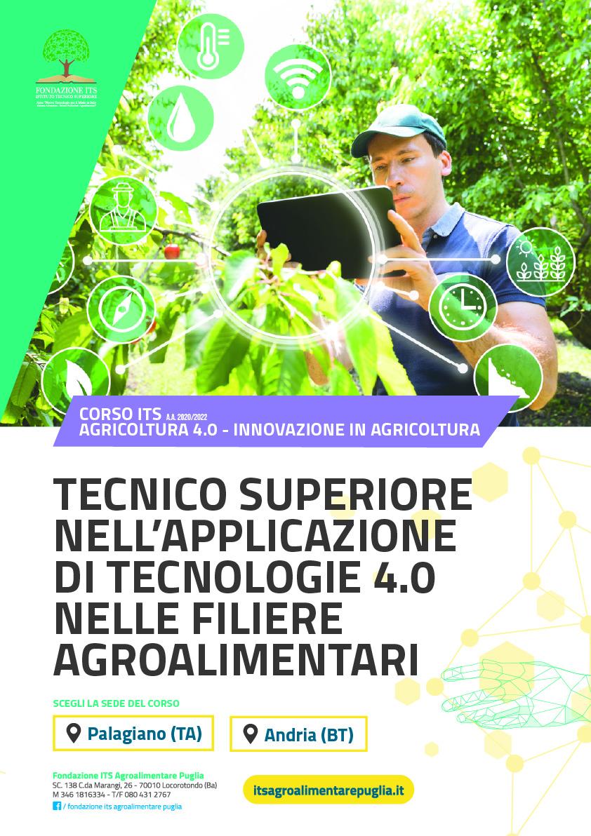 Tecnico Superiore nell'applicazione di tecnologie 4.0 nelle filiere agroalimentari
