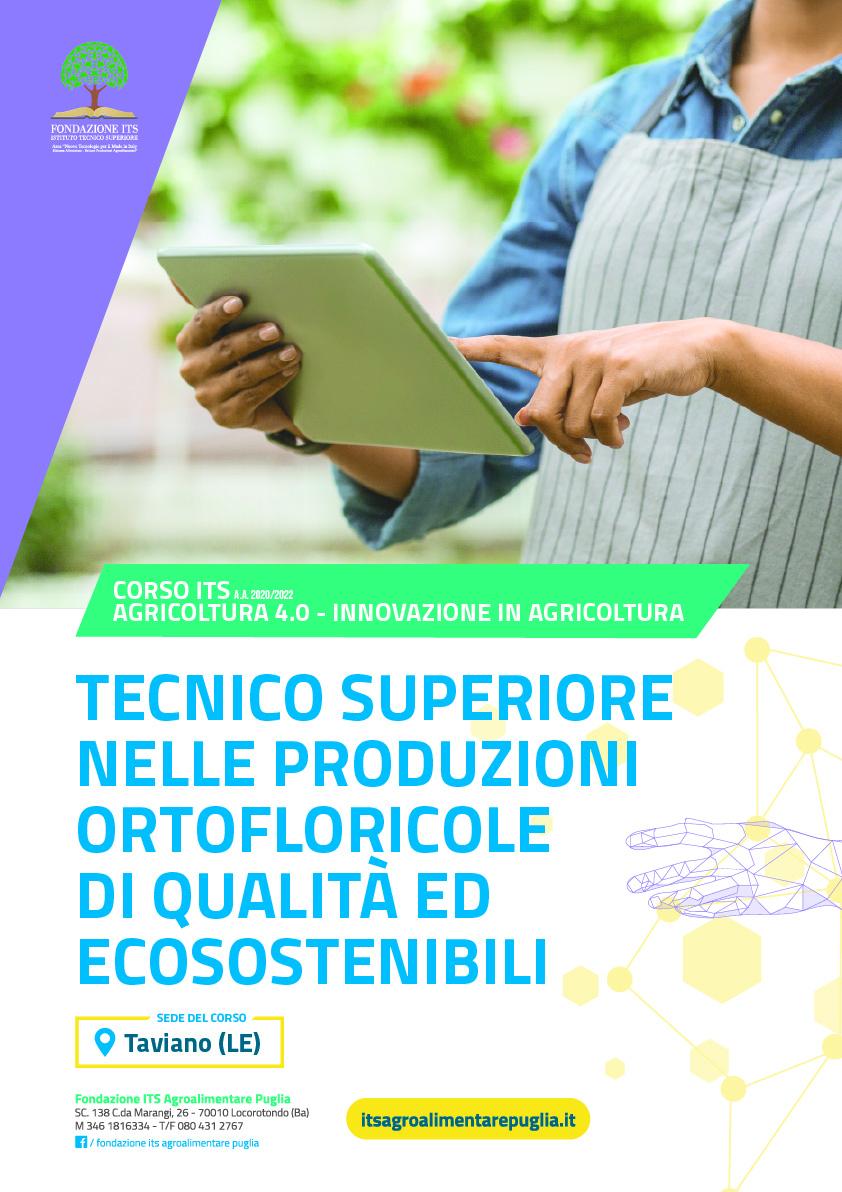 Tecnico Superiore nelle produzioni ortofloricole di qualità ed ecosostenibili